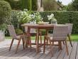 Un mobilier de jardin en résine tressée pour une terasse stylisée