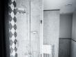 Vu à l'hôtel JoBo : un damier noir&blanc en mosaïque
