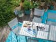 Un tapis arabesque pour une terrasse méditerranéenne