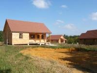 Un village de maisons bois