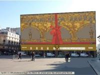 La façade du Louvre des Antiquaires redécorée