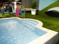 Le salon de la piscine fait de la pédagogie