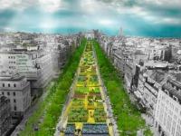 Une parure végétale géante pour les Champs-Elysées