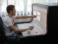 Un bureau en courbe entièrement tactile