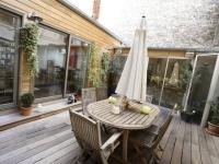 Au coeur de l'appartement, une terrasse