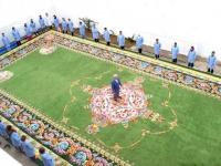 Le plus grand tapis d'art du monde