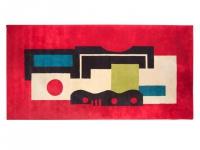 """""""Rouge"""" : un tapis d'art d'après Fernand Léger"""