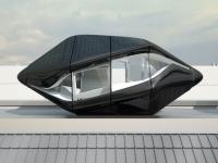 Une chambre-capsule sur le toit d'un hôtel