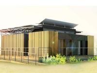 une maison ind pendante nerg tiquement gr ce des panneaux solaires hybrides. Black Bedroom Furniture Sets. Home Design Ideas