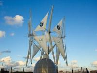Un manège de voiles pour une éolienne