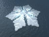 Un hôtel en forme de flocon de neige flottera au-delà du cercle polaire