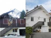 Reconstruction lumineuse et authentique d'une maison incendiée