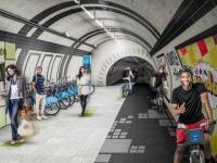 Les tunnels désaffectés du métro londonien bientôt transformés en piste cyclable ?