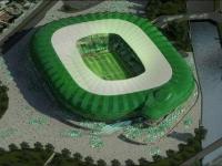 Un stade de foot en forme de crocodile
