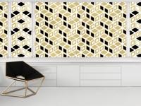 Des motifs géométriques pour un intérieur en 3D