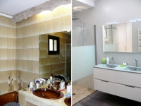 Avant/après : une salle de bains démodée rénovée du sol au plafond