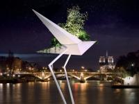 Design et Art végétal : Un albatros géant en plein coeur de Paris