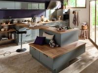 Un îlot central pour une cuisine ouverte conviviale