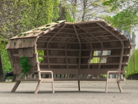 Concours de l'innovation Jardins, Jardin 2016 : un kiosque en chanvre et lin