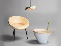 Des meubles en mouvement grâce à des rouleaux de bambou