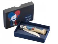 Le couteau Opinel n°8 se colore en bleu, blanc, rouge