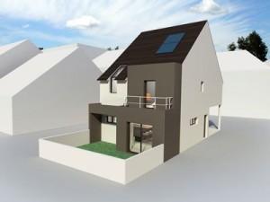 Une maison témoin de construction BBC en béton