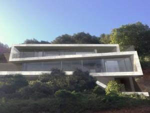 Une villa d'architecte perchée sur la colline