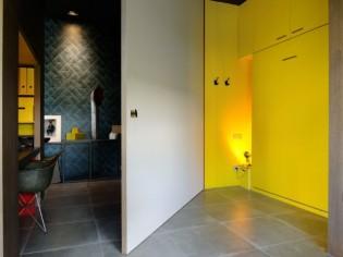Lit rétractable dans un mur, un exemple ultra fonctionnel
