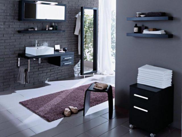 10 salles de bains 100 design for Hygena salle de bain