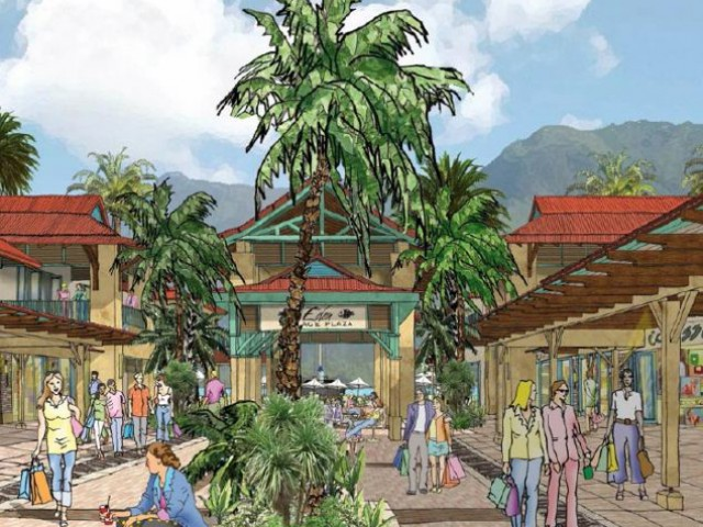 Le centre commercial Eden Island