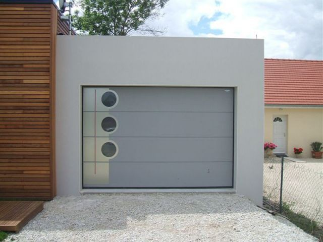Une maison qui bouscule les traditions for Garage qui fait credit