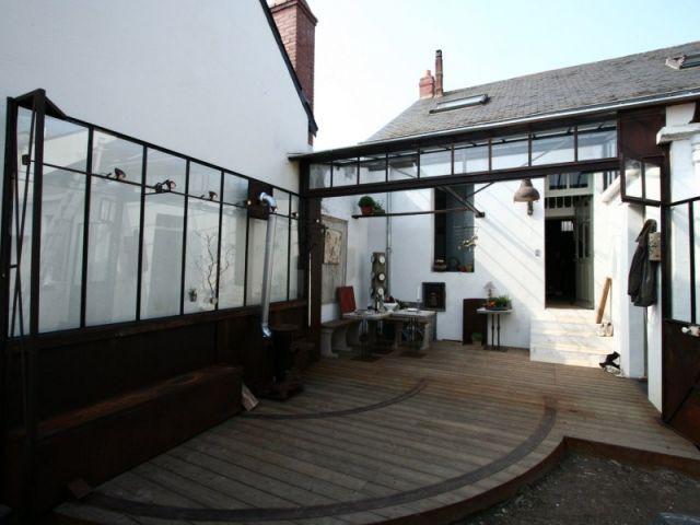 Terrasse en bois - verriere - Frédéric Tabary