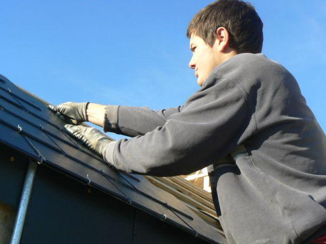 poser une toiture en ardoises - étape 3