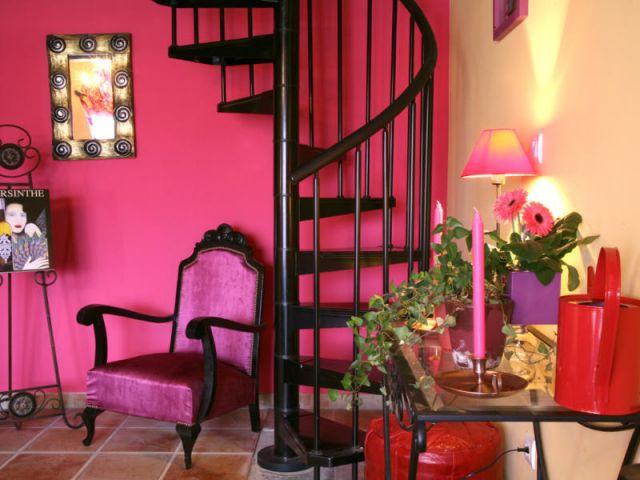 L'escalier en colimaçon - Reportage salon - Linda Flament - relooking d'intérieur