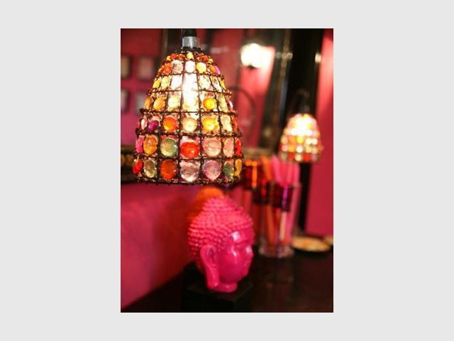 Bouddha rose - Reportage salon - Linda Flament - relooking d'intérieur