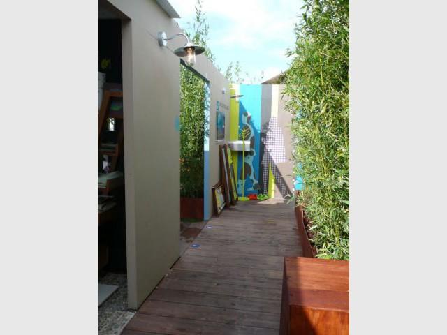 Une oasis exotique en haut du bhv for Couloir appartement