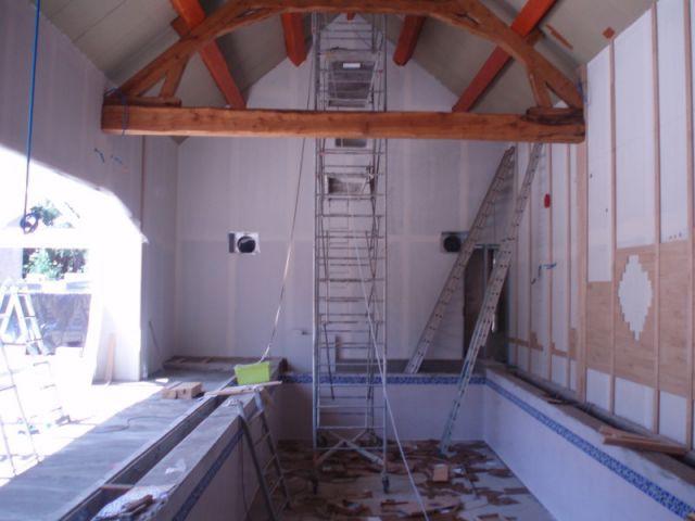 Consolidation des murs - reportage piscine intérieure - Christelle Brosset - Provins