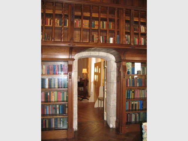 La bibliothèque - Château de Candé