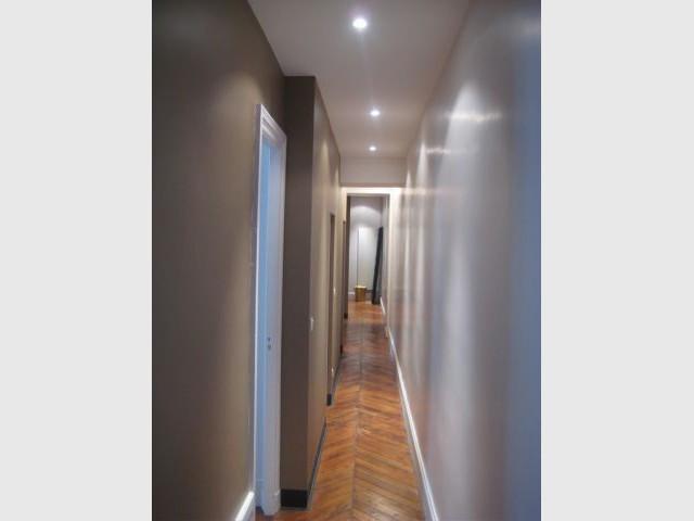 Le couloir après rénovation - Rénovation appartement Lyon