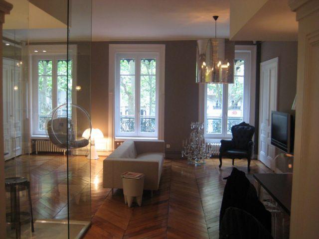 Le salon - Rénovation appartement Lyon