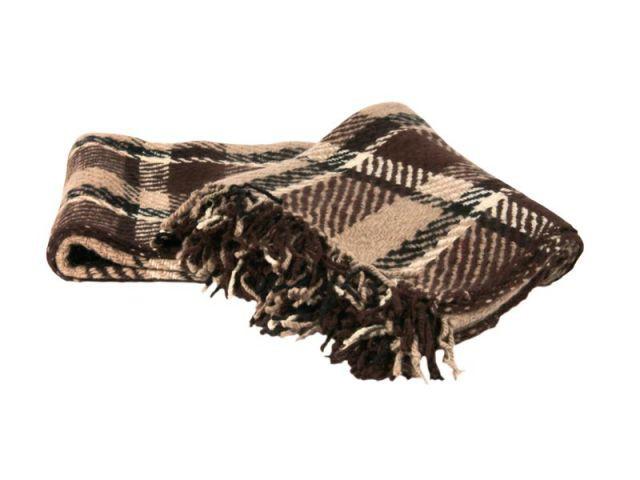 Plaid écossais en laine