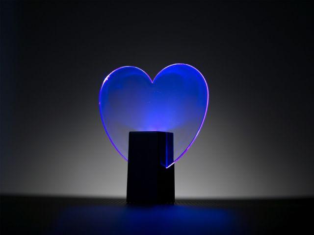 Lampe déco coeur