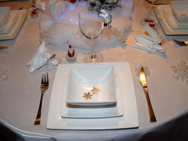 Décor blanc - Tables de Noel - Christine
