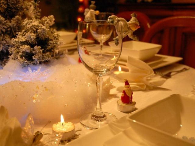 Bougies - Tables de Noel - Christine
