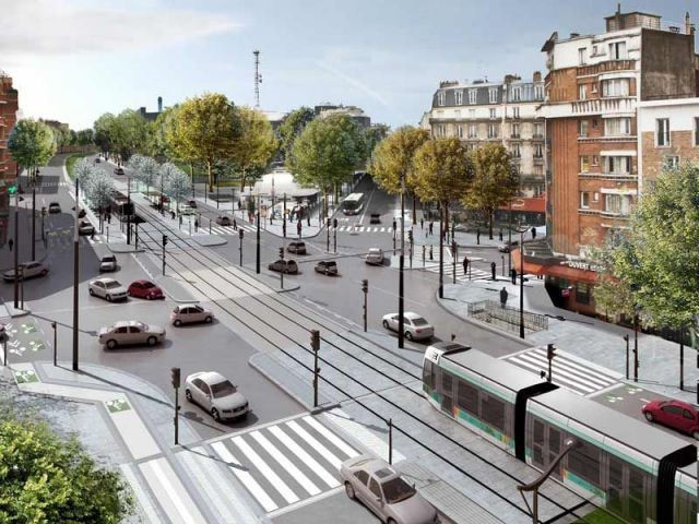 Le tramway parisien un chantier tron onn - Piscine des tourelles porte des lilas ...