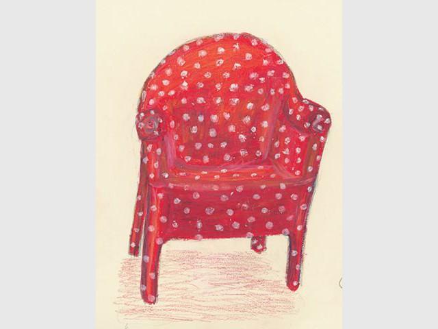 dessin fauteuil rouge