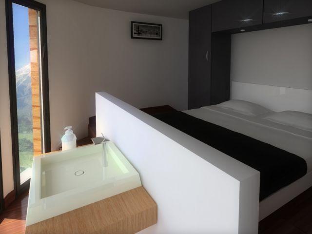 une maison bois modulaire et design. Black Bedroom Furniture Sets. Home Design Ideas