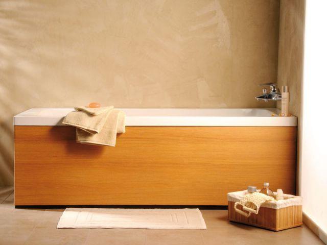 tablier de baignoire teck