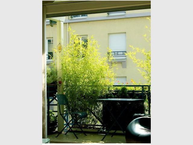 La terrasse aménagée - jardin suspendu Lyon