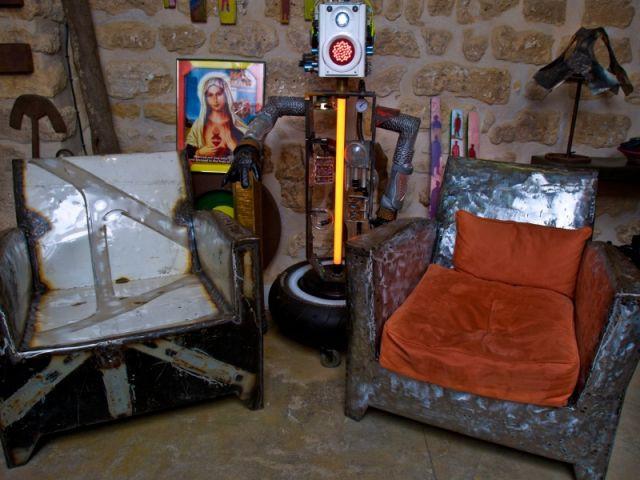 Des fauteuils en tôle - mawaco